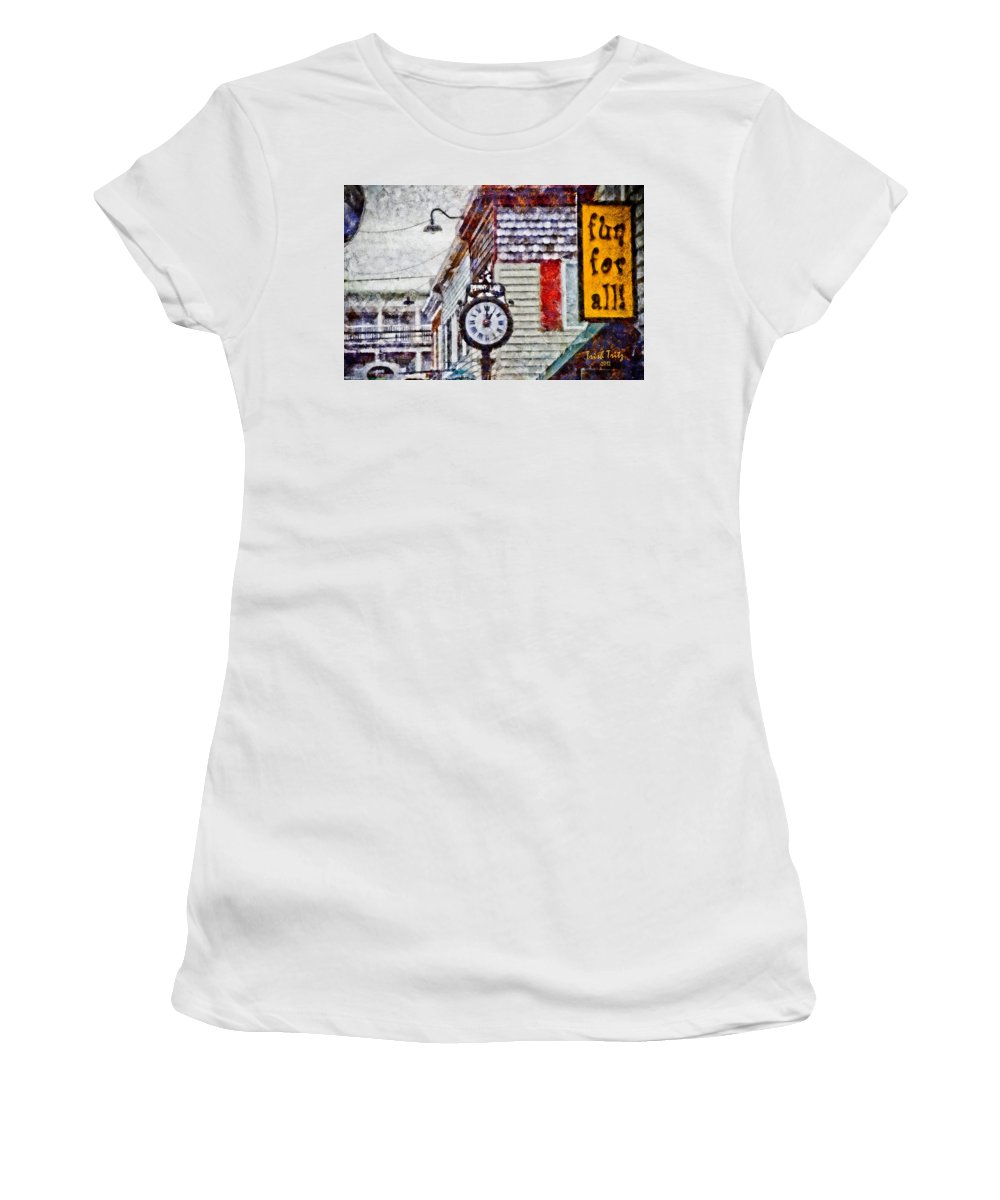 Rehoboth Beach Women's T-Shirt (Athletic Fit) featuring the photograph Penny Lane by Trish Tritz