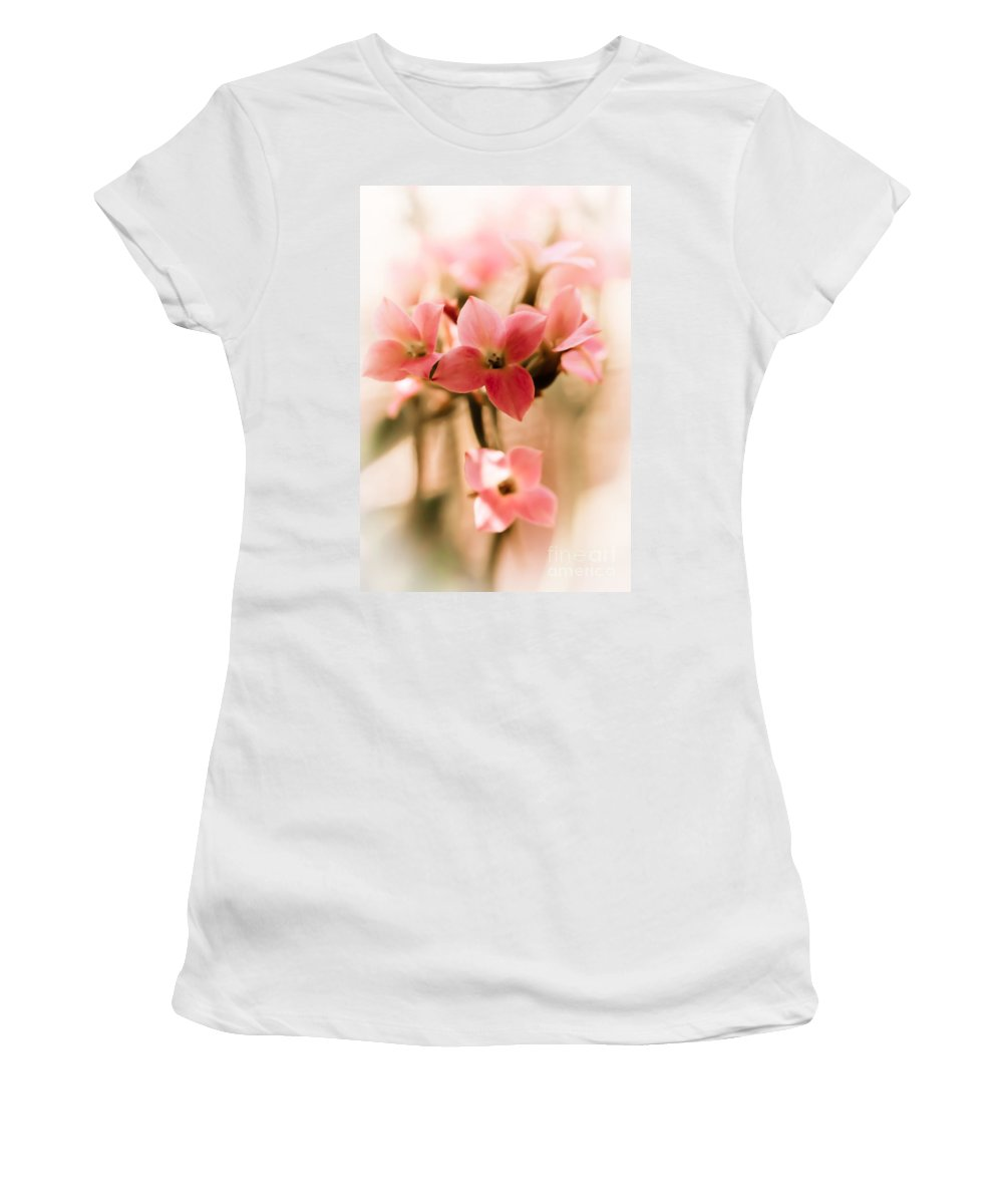 Flower Women's T-Shirt (Athletic Fit) featuring the photograph Pink Floral 1 by Jill Smith