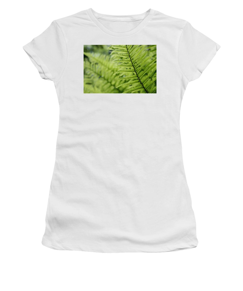 Plants Women's T-Shirt (Athletic Fit) featuring the photograph Plant Detail, Close Up by Axiom Photographic
