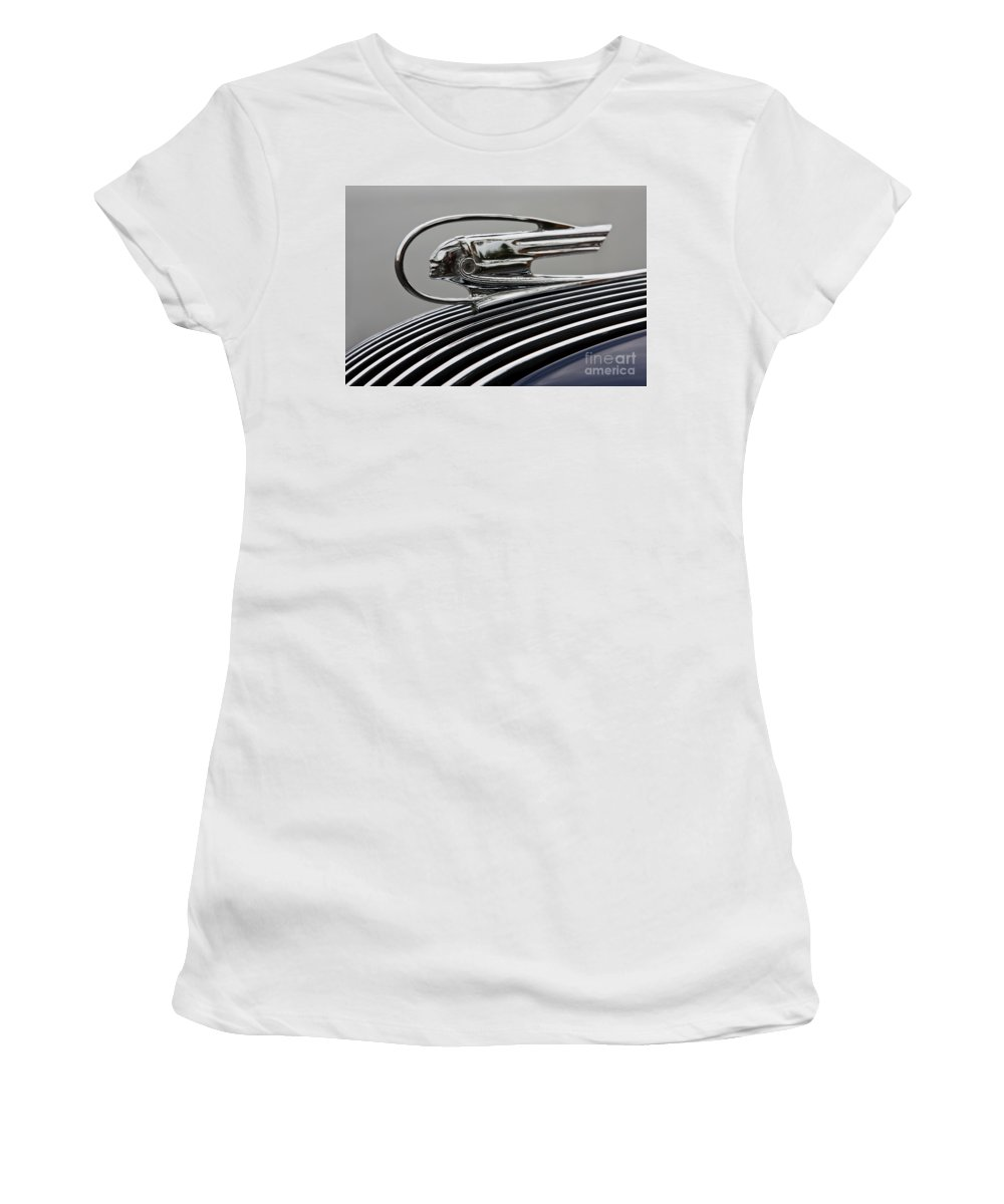 Classic Automobile Women's T-Shirt (Athletic Fit) featuring the photograph Pontiac Ornament by Dennis Hedberg