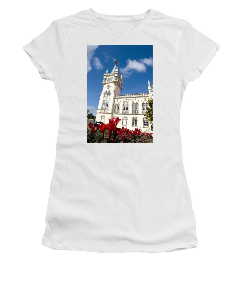 Photography Women's T-Shirt (Athletic Fit) featuring the photograph Prefeirura De Sintra by Axiom Photographic