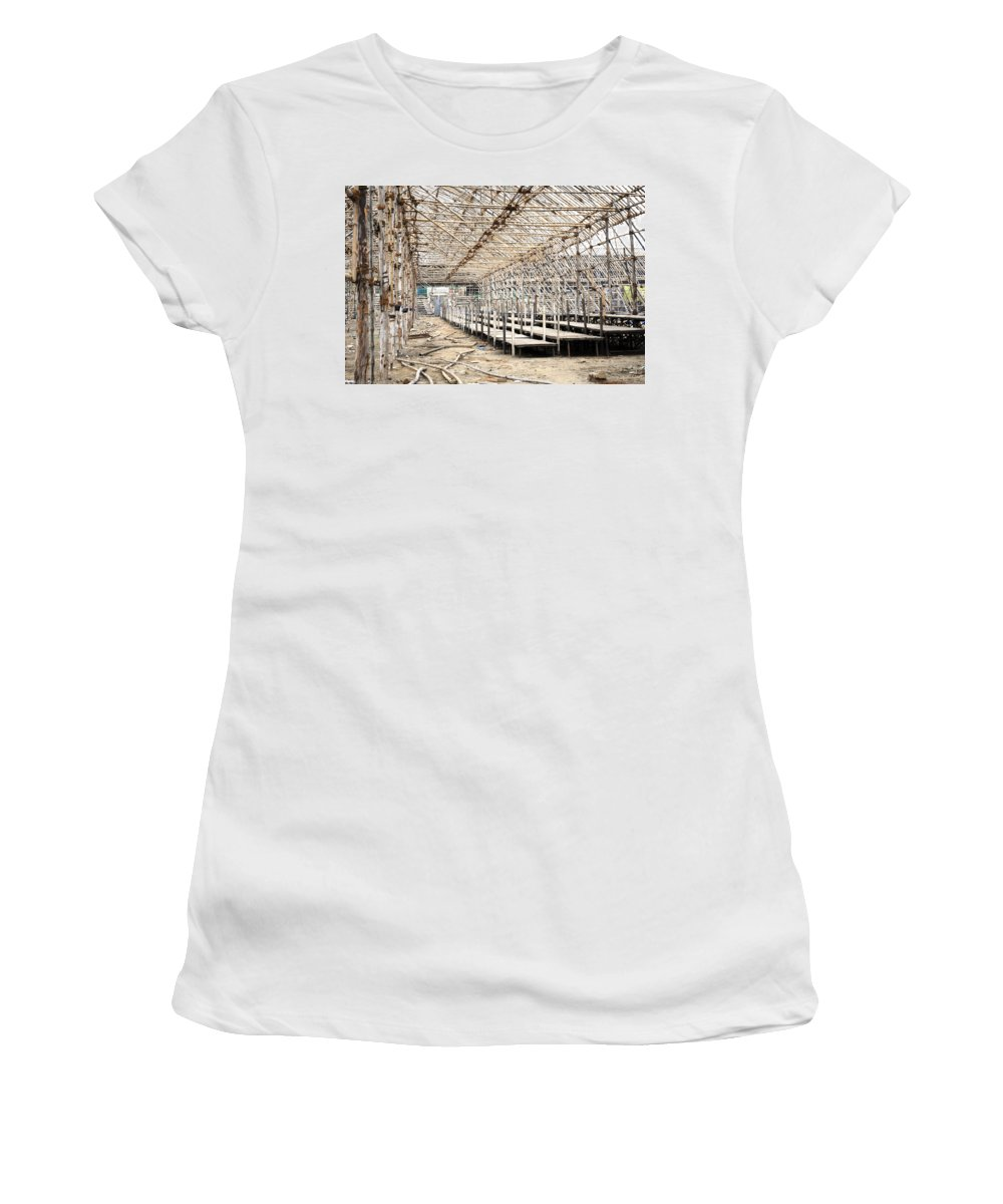 Carnival Women's T-Shirt featuring the photograph Preparation Of A Circus by Sumit Mehndiratta