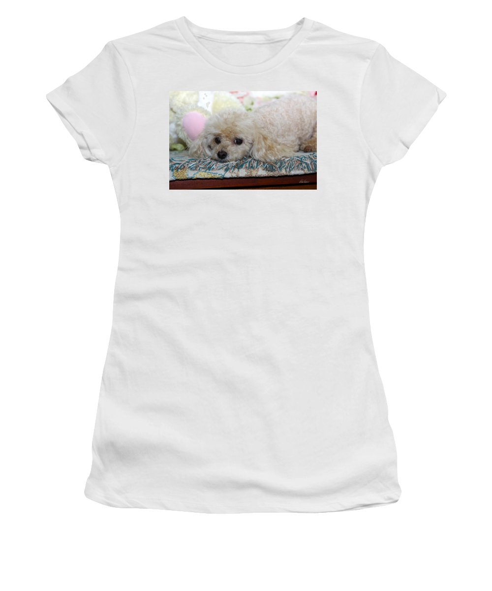 Dog Women's T-Shirt (Athletic Fit) featuring the photograph Puppy Dog Eyes by Diana Haronis