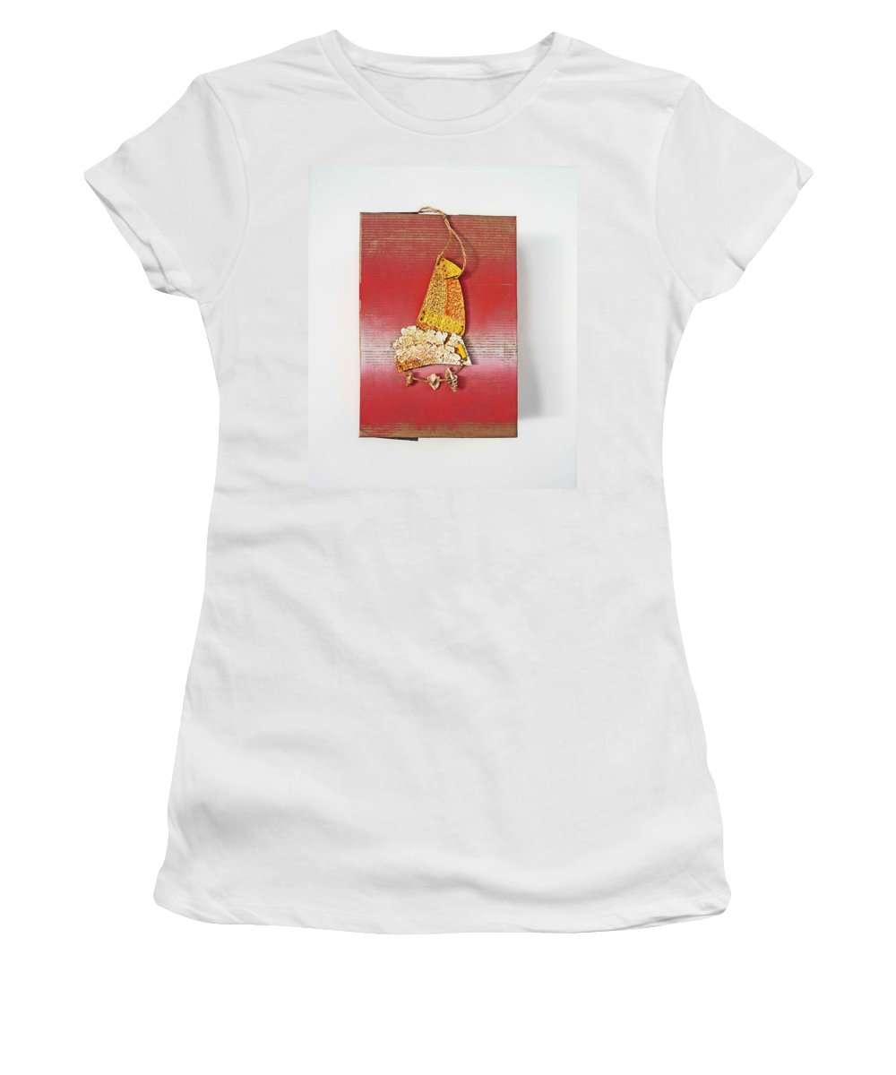 Sculpture Women's T-Shirt (Athletic Fit) featuring the painting Red Box by Charles Stuart