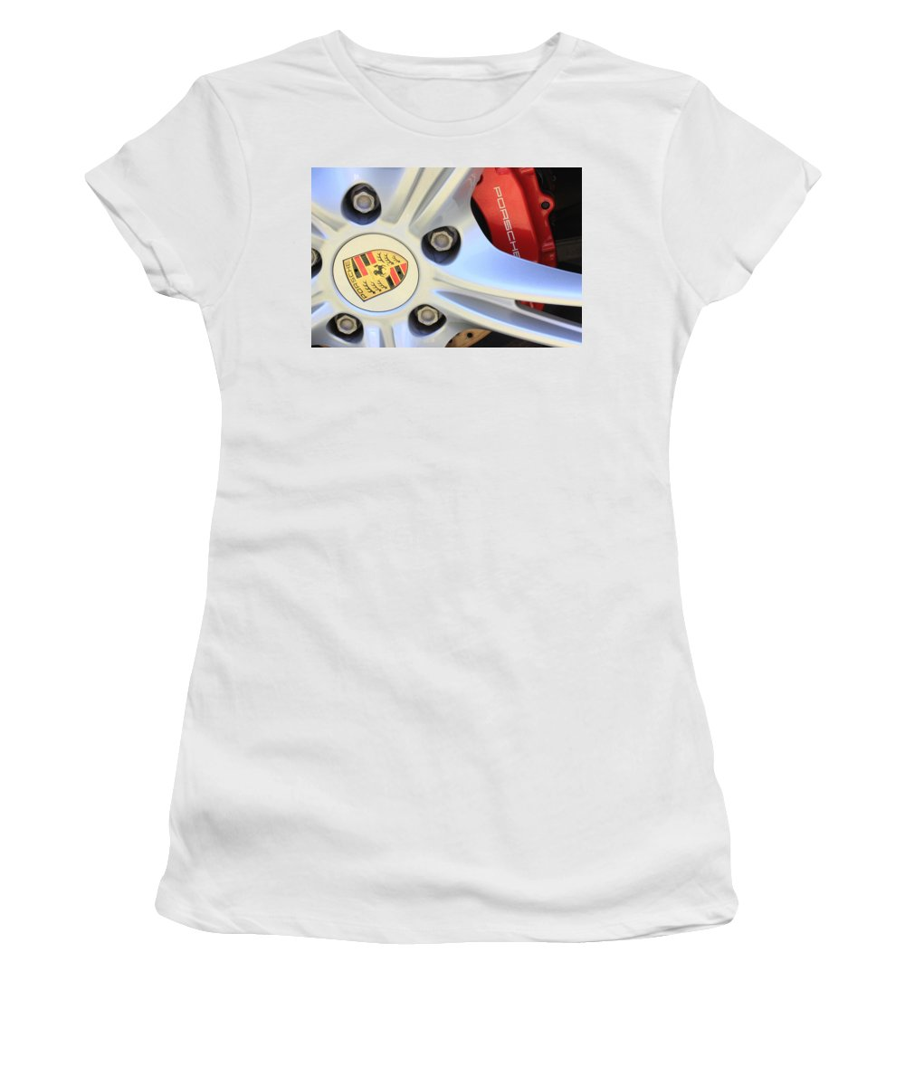 Red Women's T-Shirt (Athletic Fit) featuring the photograph Red Boxter S Caliper by Heidi Smith