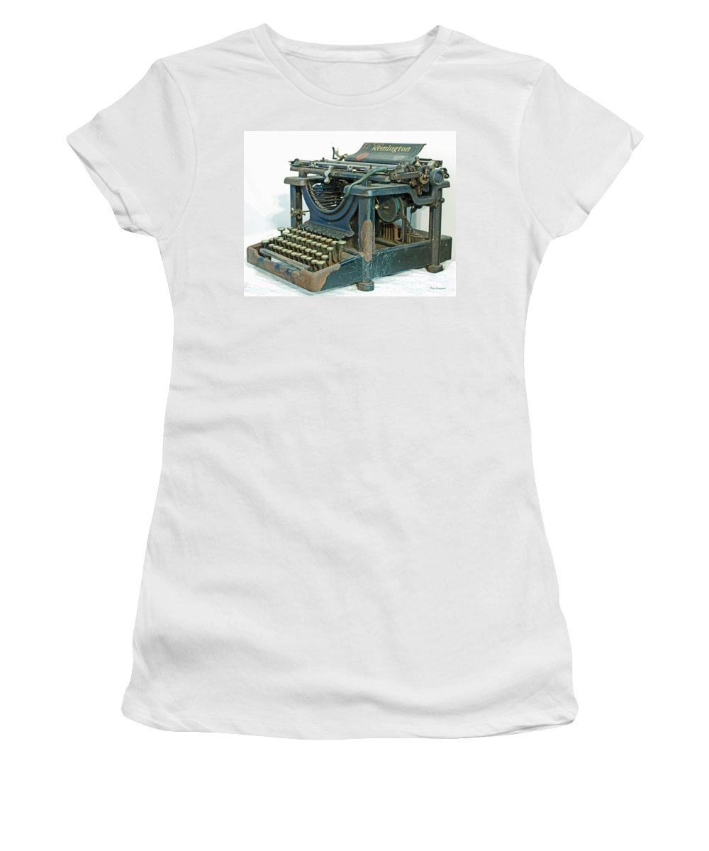 Typewriter Women's T-Shirt featuring the photograph Remington 11 by Kay Lovingood