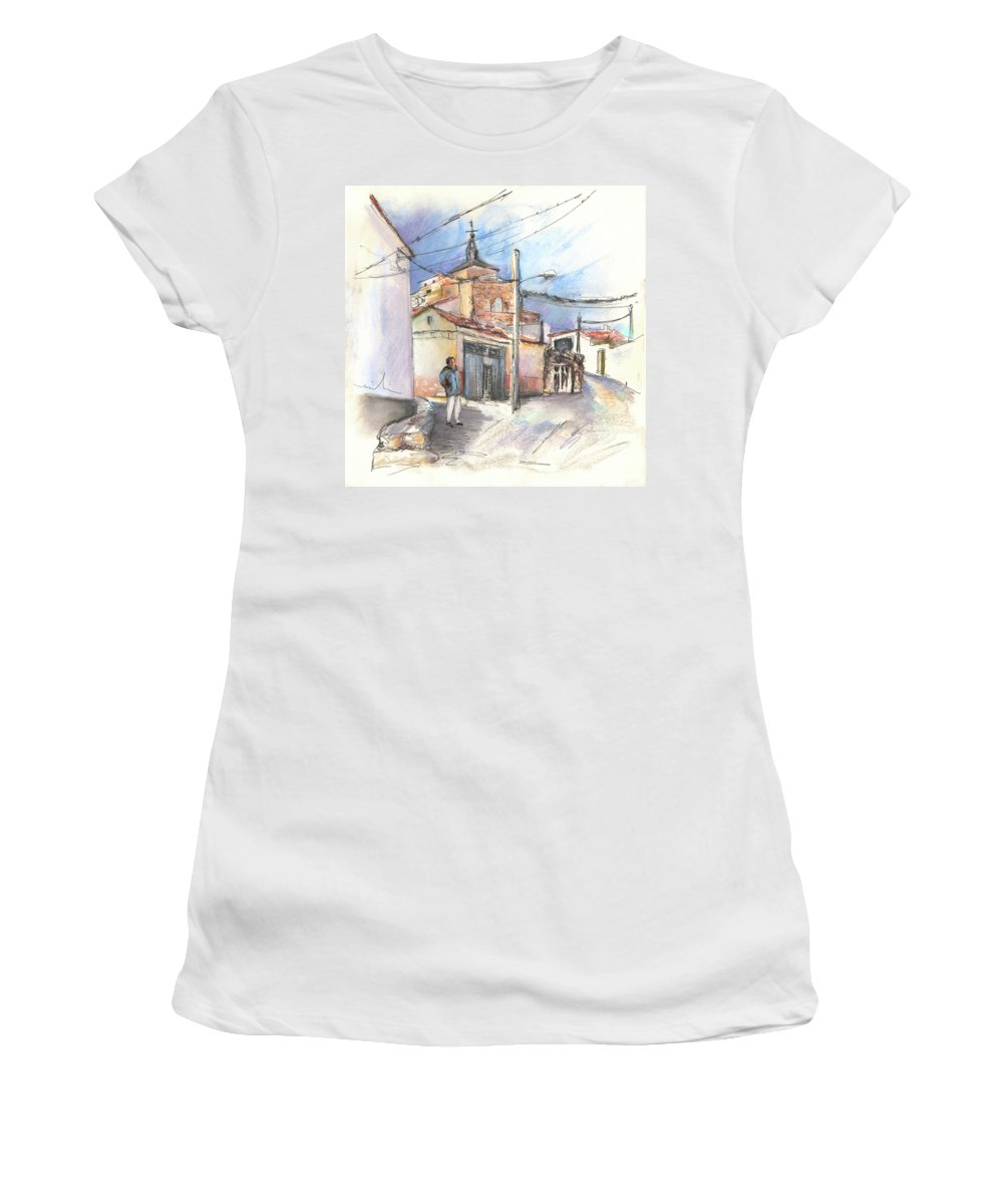 Spain Women's T-Shirt (Athletic Fit) featuring the painting Ribera Del Duero In Spain 12 by Miki De Goodaboom