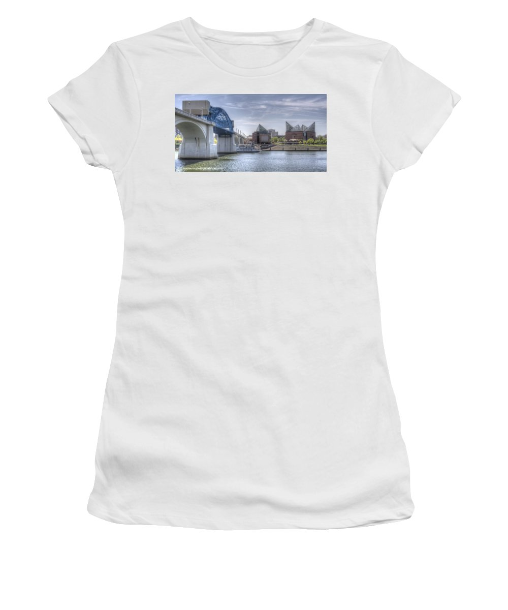 Chattanooga Women's T-Shirt (Athletic Fit) featuring the photograph Riverfront by David Troxel