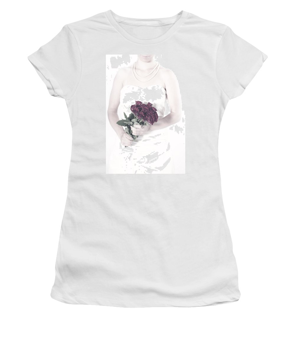 Female Women's T-Shirt (Athletic Fit) featuring the photograph Roses by Joana Kruse