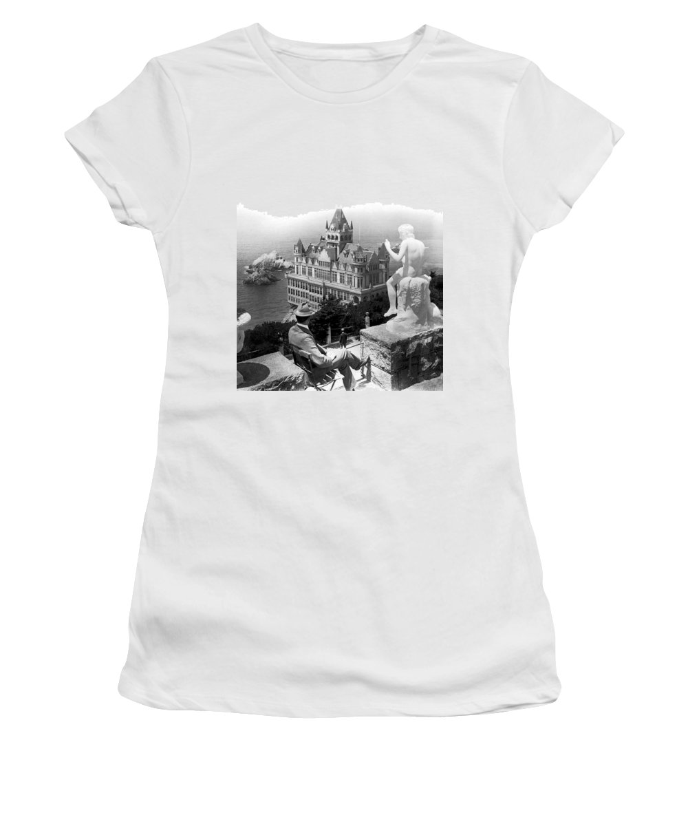 1890's Women's T-Shirt featuring the photograph San Francisco Cliff House by Underwood Archives