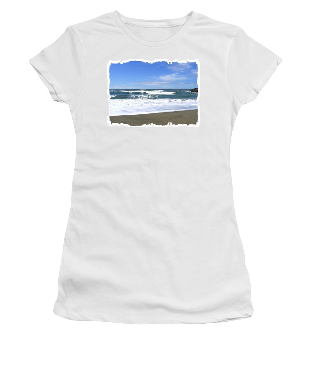 Seascape Women's T-Shirt featuring the photograph Sandy Shores Of Oregon by Will Borden