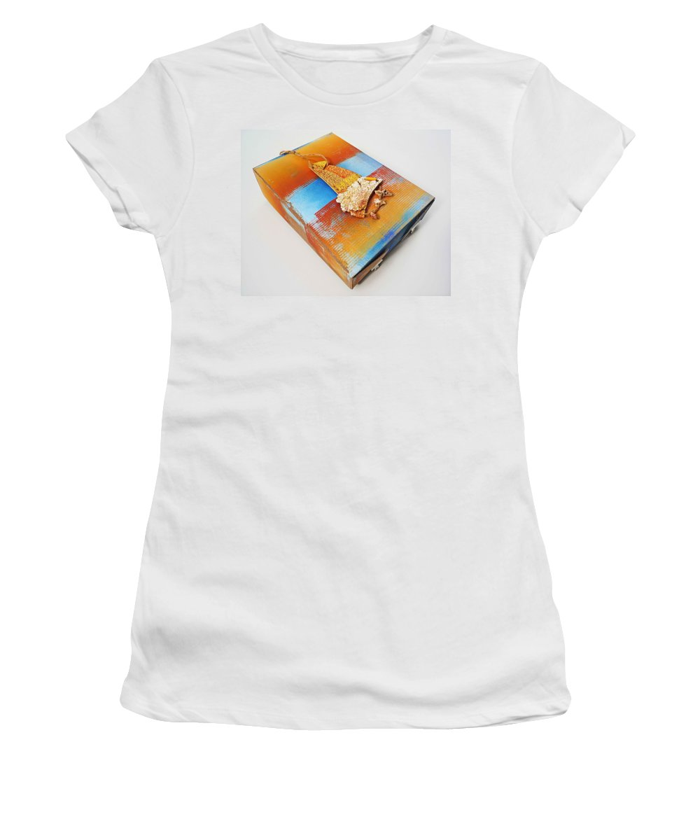 Sculpture Women's T-Shirt (Athletic Fit) featuring the painting Sea Change Box by Charles Stuart