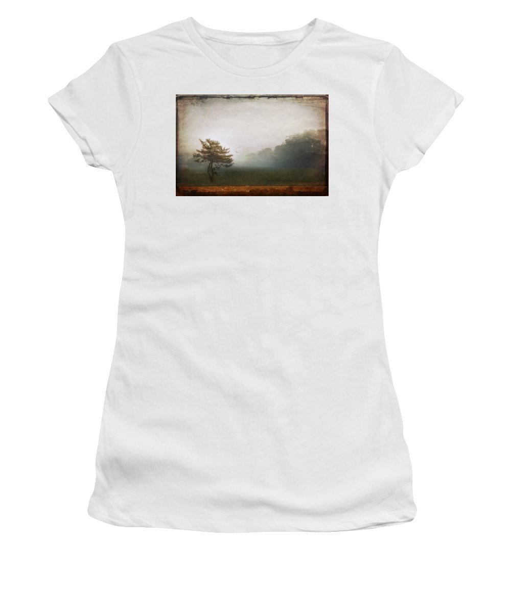 Tree Women's T-Shirt (Athletic Fit) featuring the photograph Season Of Mists by Evelina Kremsdorf