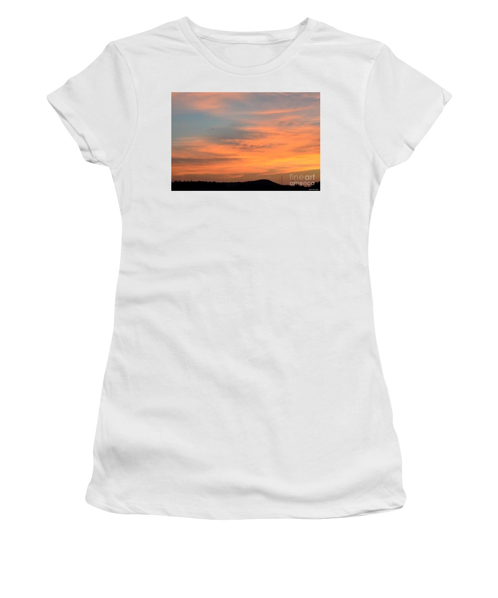 September 27 2012 Sunrise Women's T-Shirt (Athletic Fit) featuring the photograph September 27 2012 Sunrise by Maria Urso