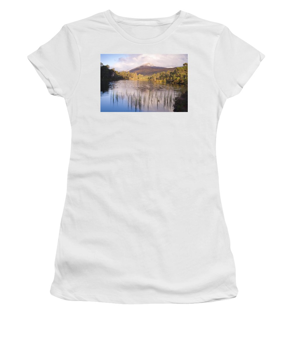 Aesthetic Women's T-Shirt featuring the photograph Sgurr Na Lapaich From Loch Salach A Ghiubhais In Glen Affric by Howard Kennedy