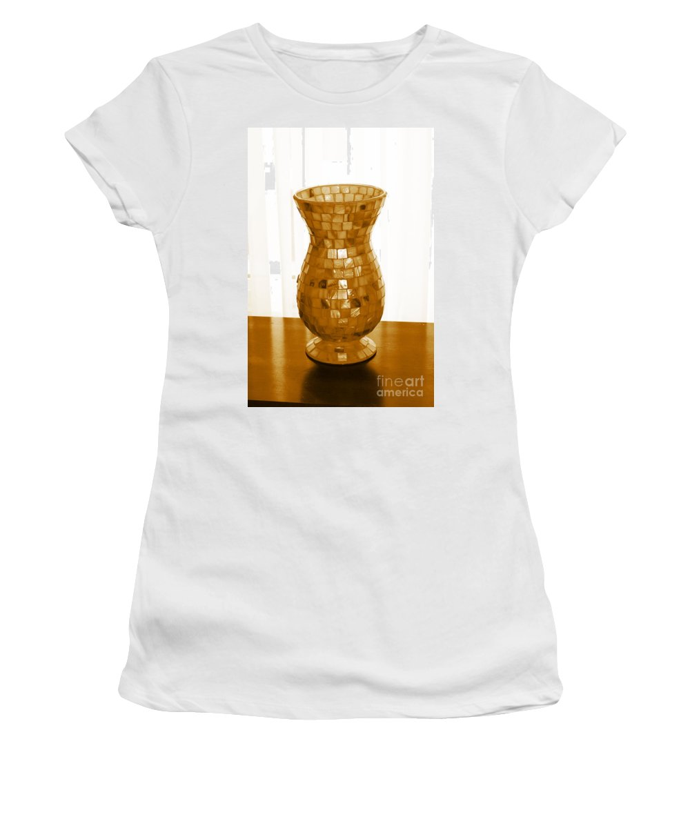 Shell Vase Women's T-Shirt (Athletic Fit) featuring the digital art Shell Vase by Barbara Griffin