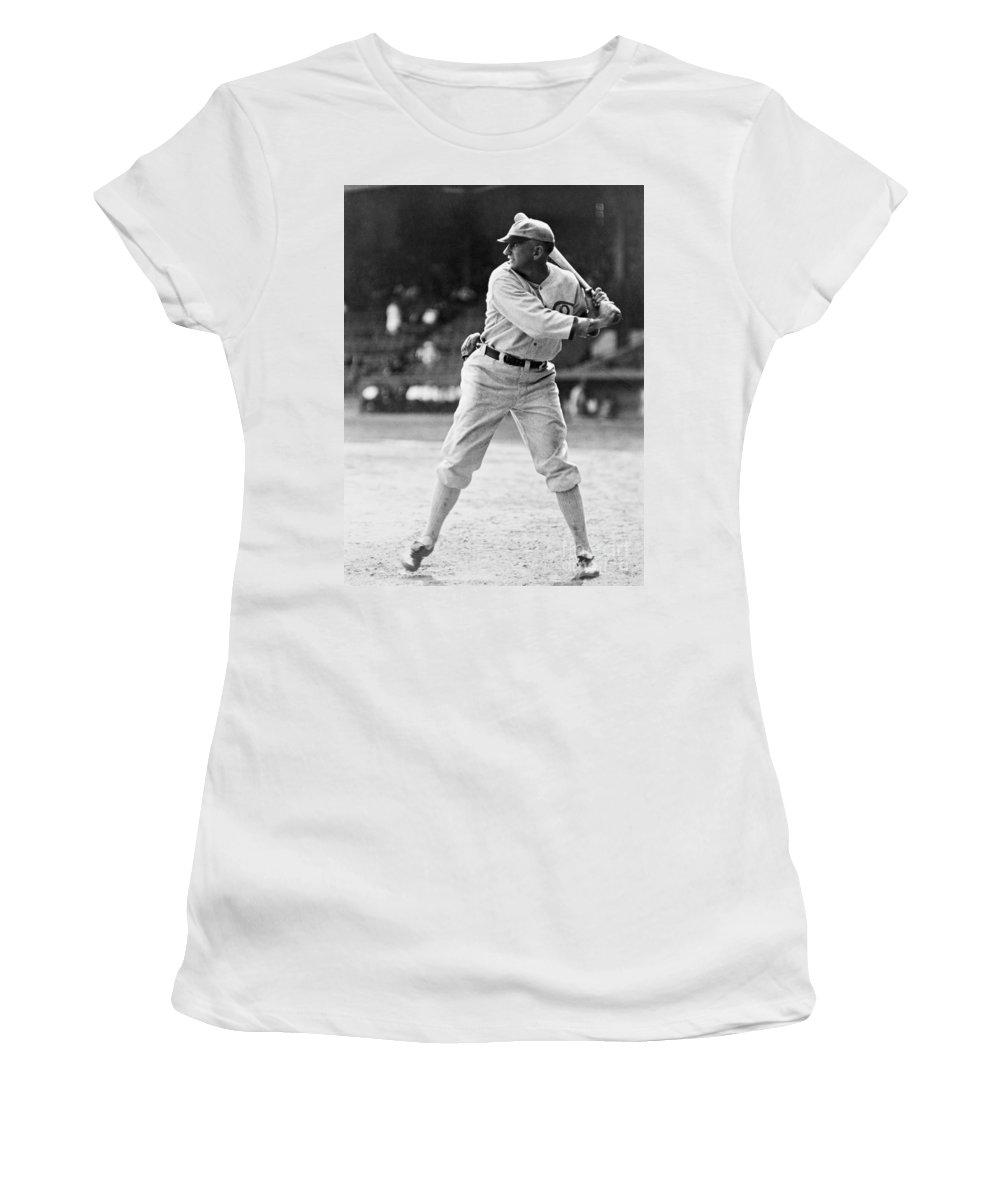 1920 Women's T-Shirt featuring the photograph Shoeless Joe Jackson (1889-1991) by Granger