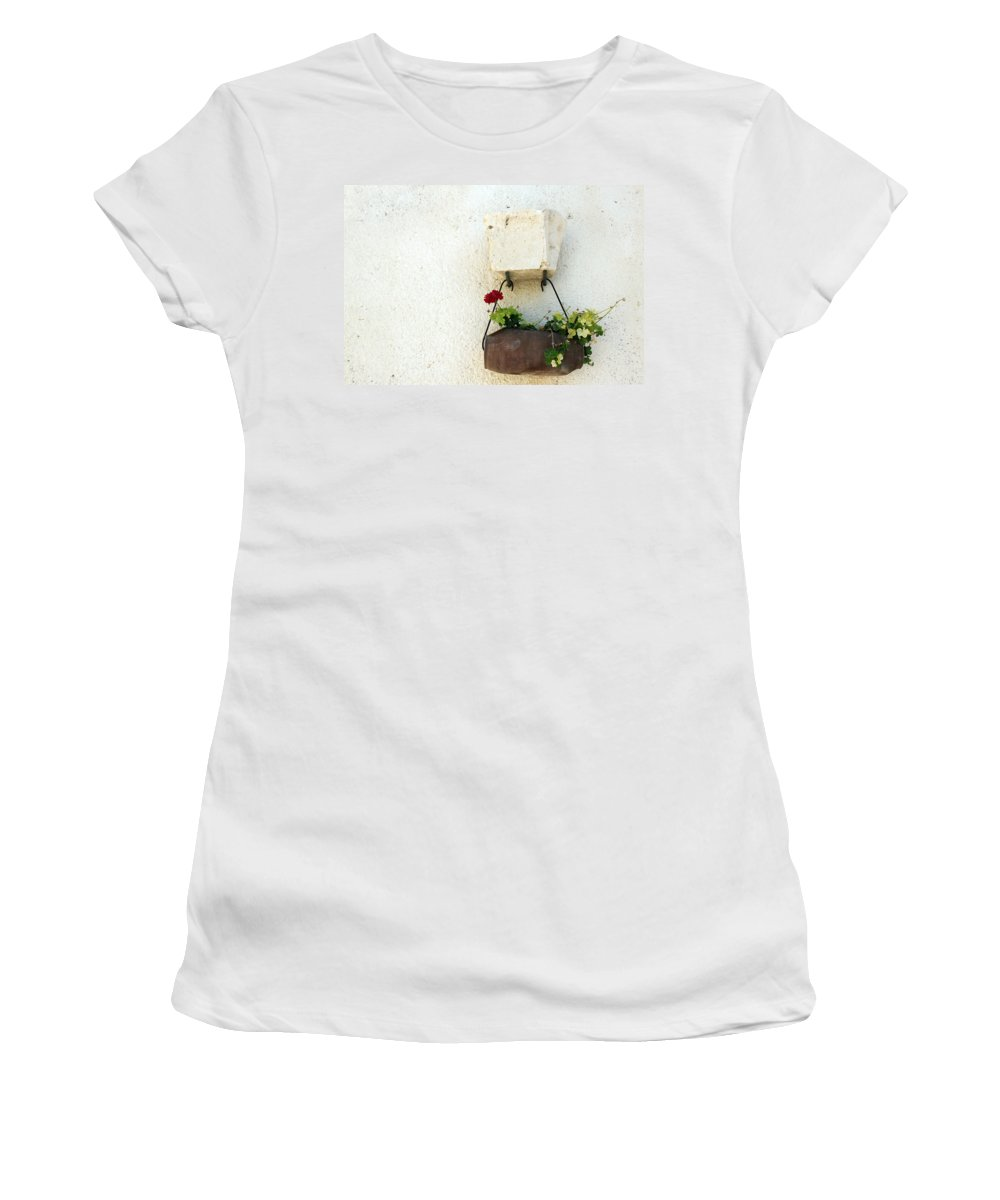 Rose Women's T-Shirt featuring the photograph Simply Red by Munir Alawi