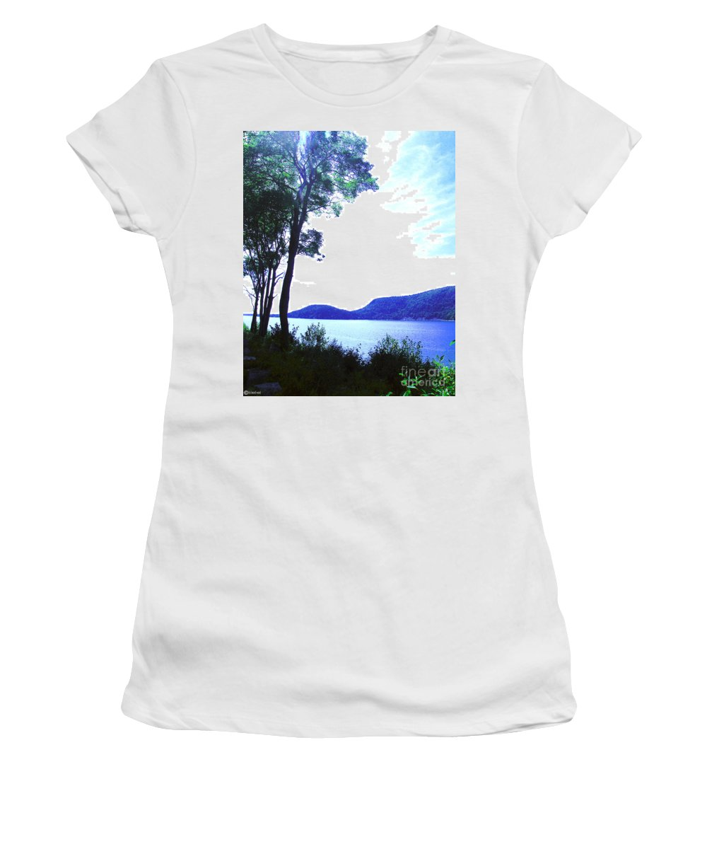 Mt Desert Island Women's T-Shirt featuring the digital art Some Sound Mt Desert Island Me by Lizi Beard-Ward