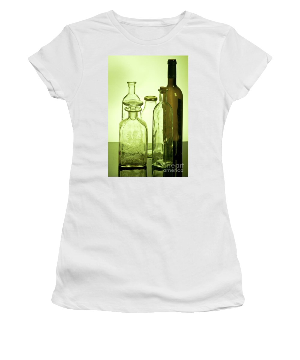 Assortment Women's T-Shirt featuring the photograph Still Life Of Bottles by Ilan Amihai