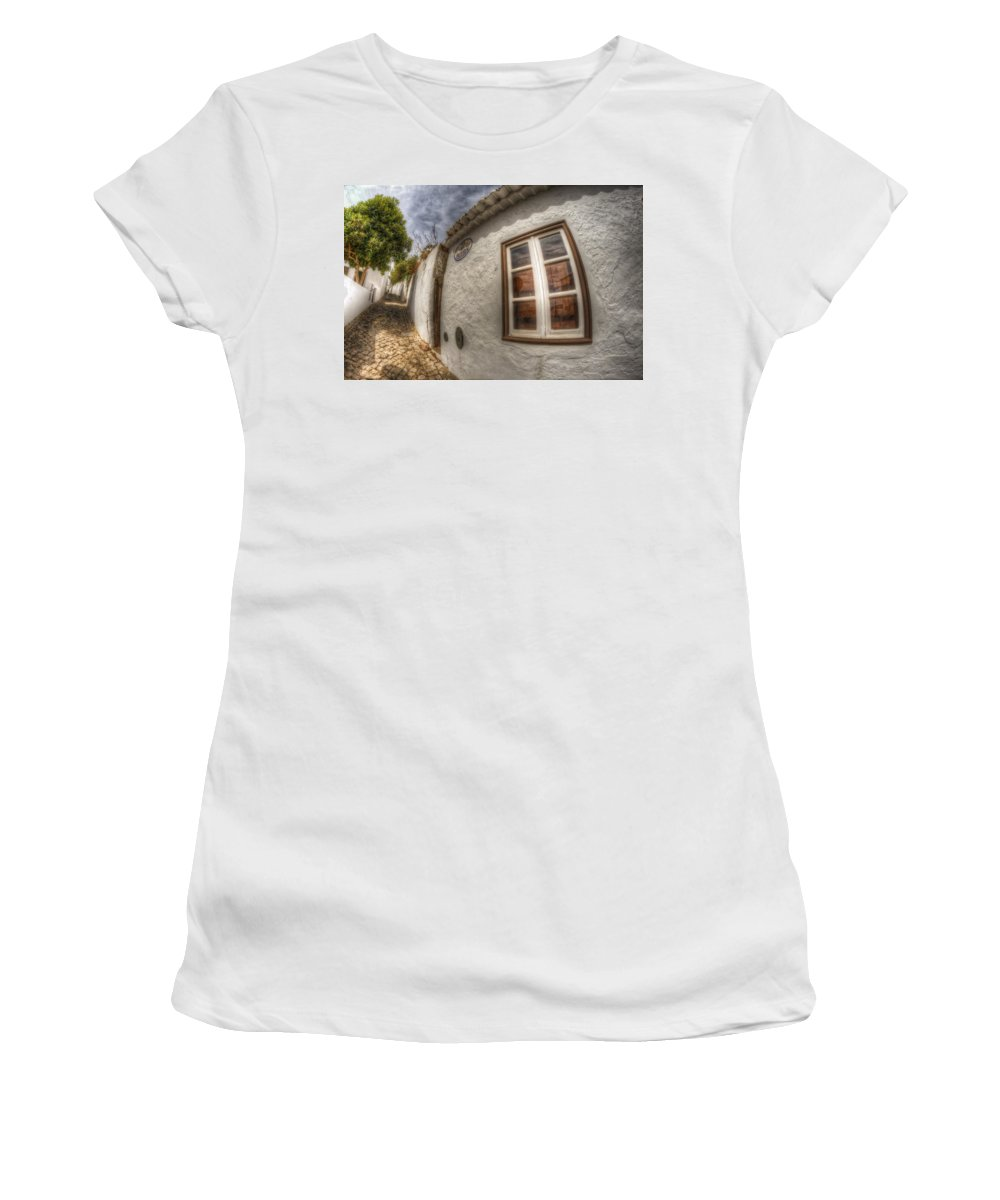 Algarve Women's T-Shirt (Athletic Fit) featuring the photograph Stop And Reflect by Nathan Wright