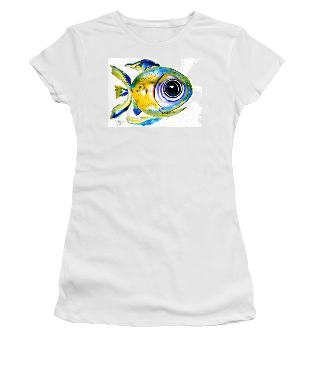 Fish Women's T-Shirt (Athletic Fit) featuring the painting Stout Lookout Fish by J Vincent Scarpace