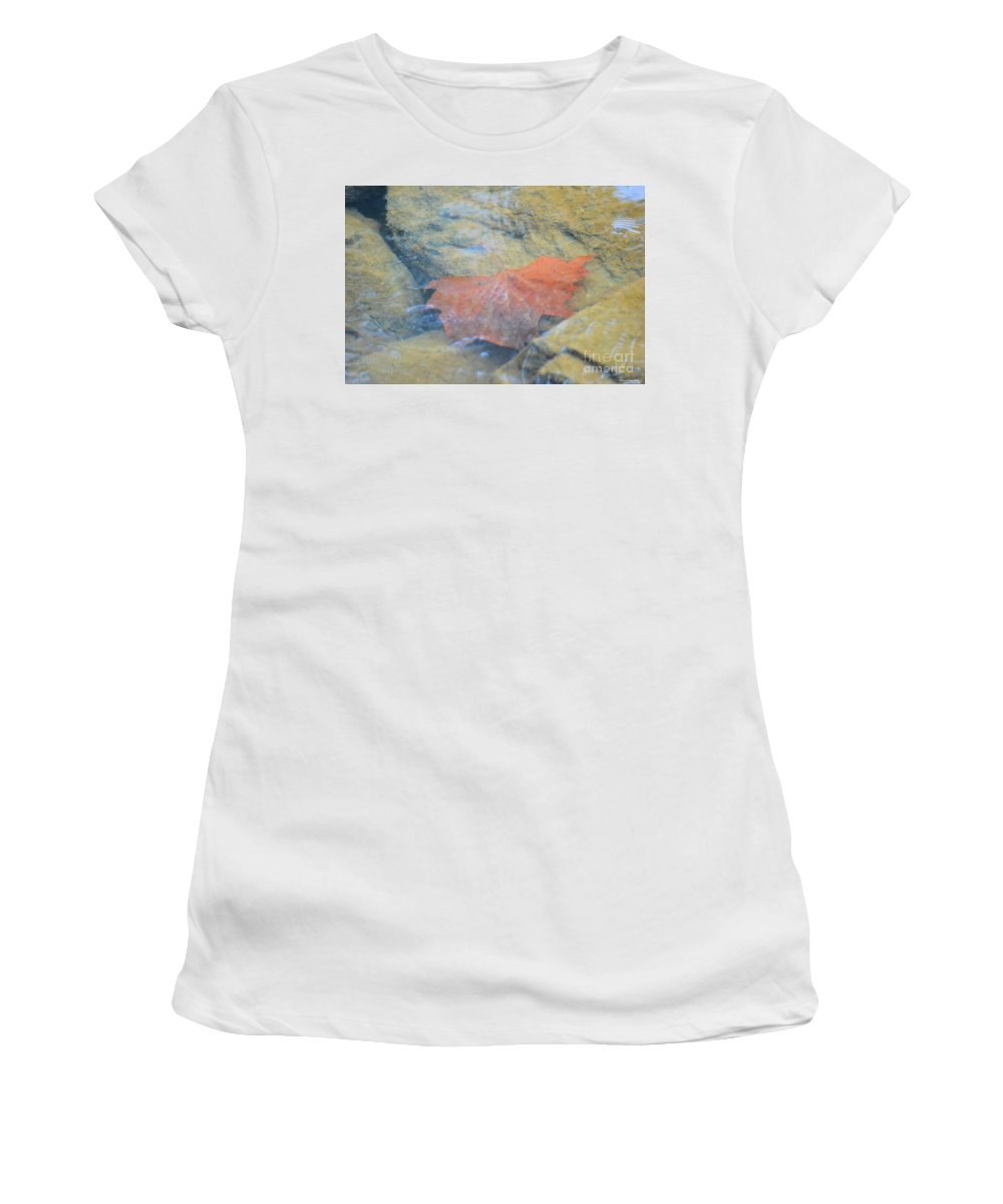 Submergence Women's T-Shirt (Athletic Fit) featuring the photograph Submergence by Maria Urso