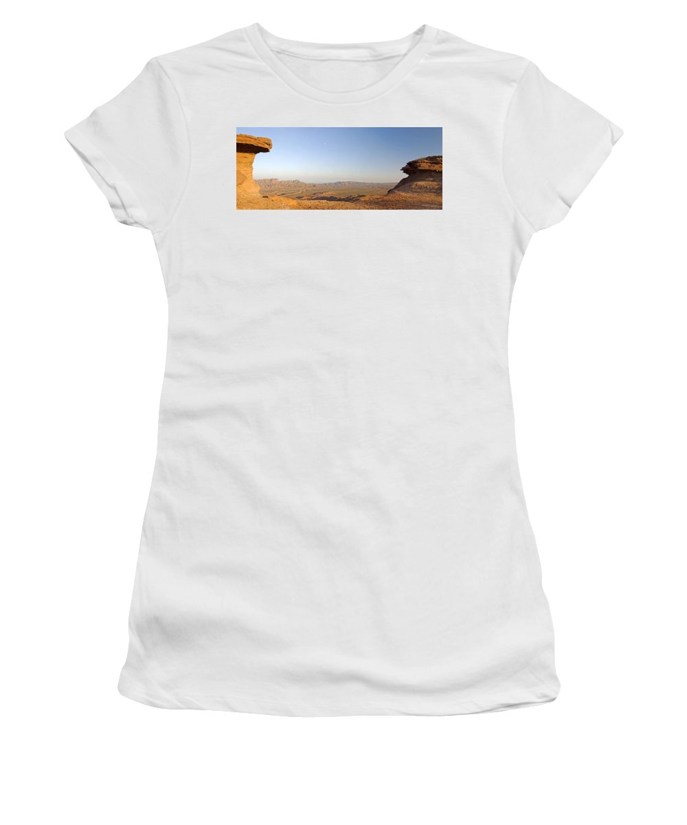Argentine Women's T-Shirt (Athletic Fit) featuring the photograph Sunrise On The Sierra De Las Quijadas by Philippe Widling