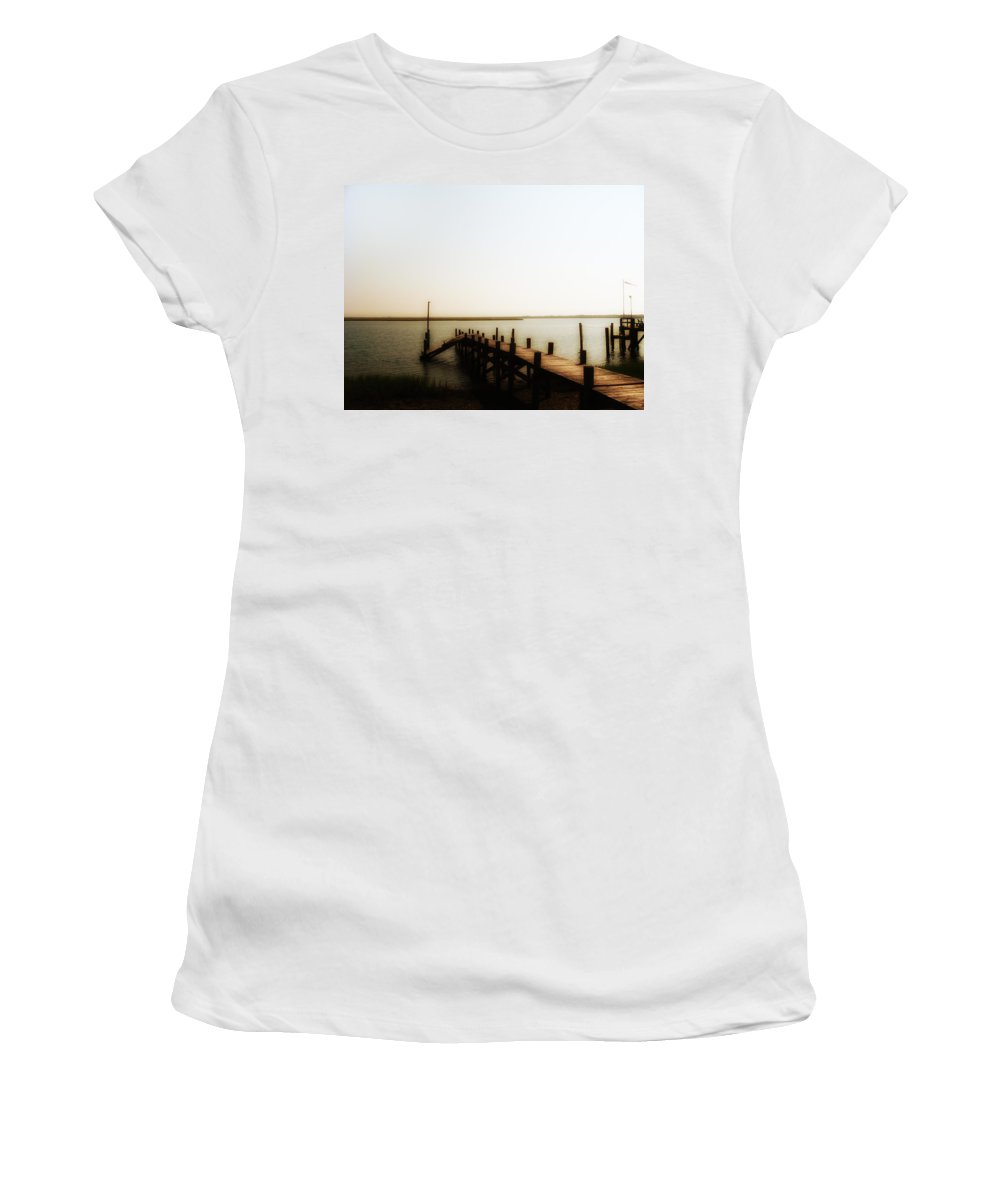 The Back Bay Women's T-Shirt featuring the photograph The Back Bay by Bill Cannon