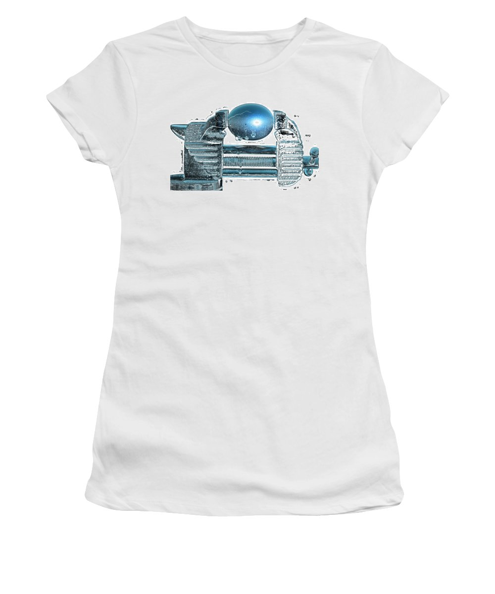 Art Women's T-Shirt featuring the pyrography The Big Squeeze by Mauro Celotti