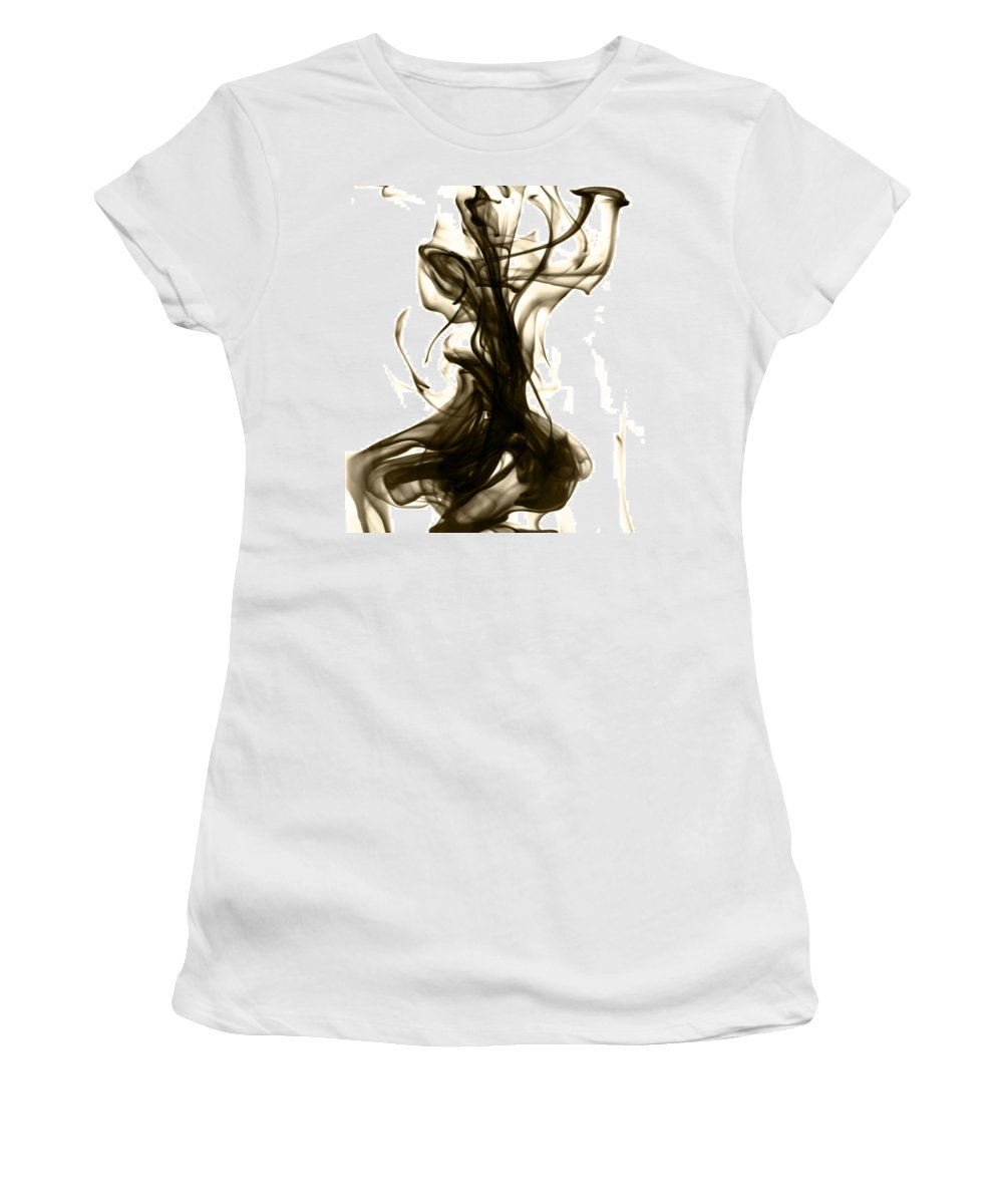 Abstract Women's T-Shirt featuring the photograph The Feminine Side by Sumit Mehndiratta