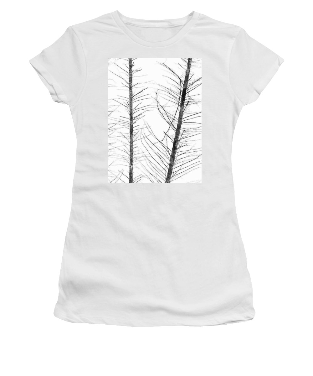 Indumentum Women's T-Shirt (Athletic Fit) featuring the photograph The Hirsute Trees by Steve Taylor