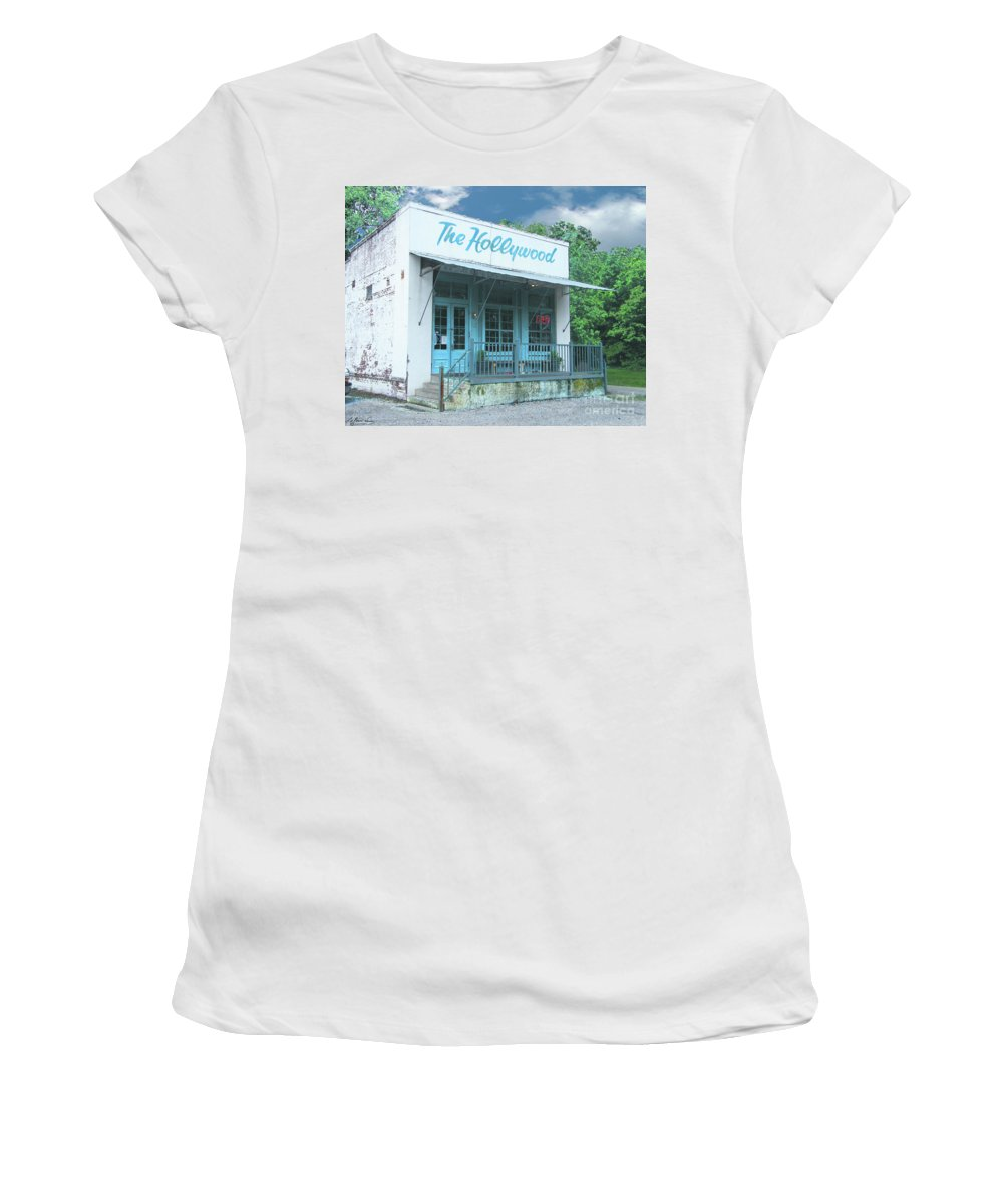 Restaurant Women's T-Shirt (Athletic Fit) featuring the digital art The Hollywood At Tunica Ms by Lizi Beard-Ward