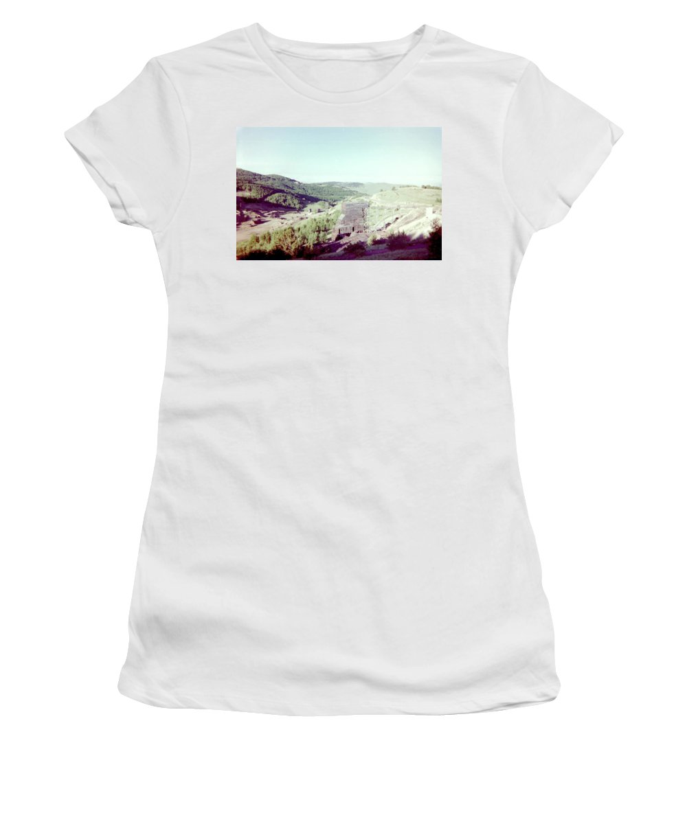 Gold Women's T-Shirt (Athletic Fit) featuring the photograph The Mine by Bonfire Photography