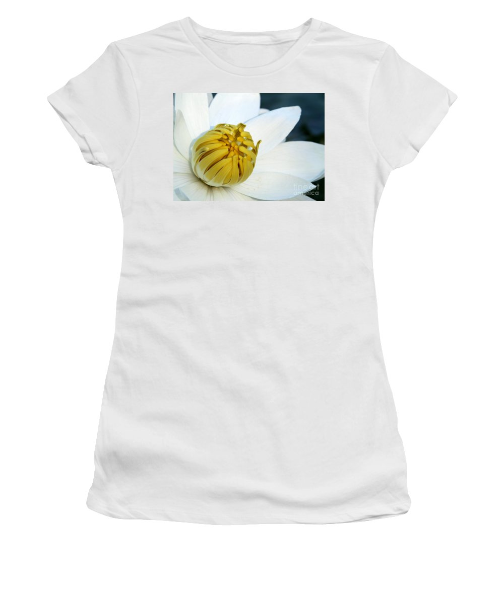 Macro Women's T-Shirt (Athletic Fit) featuring the photograph The Opening by Sabrina L Ryan