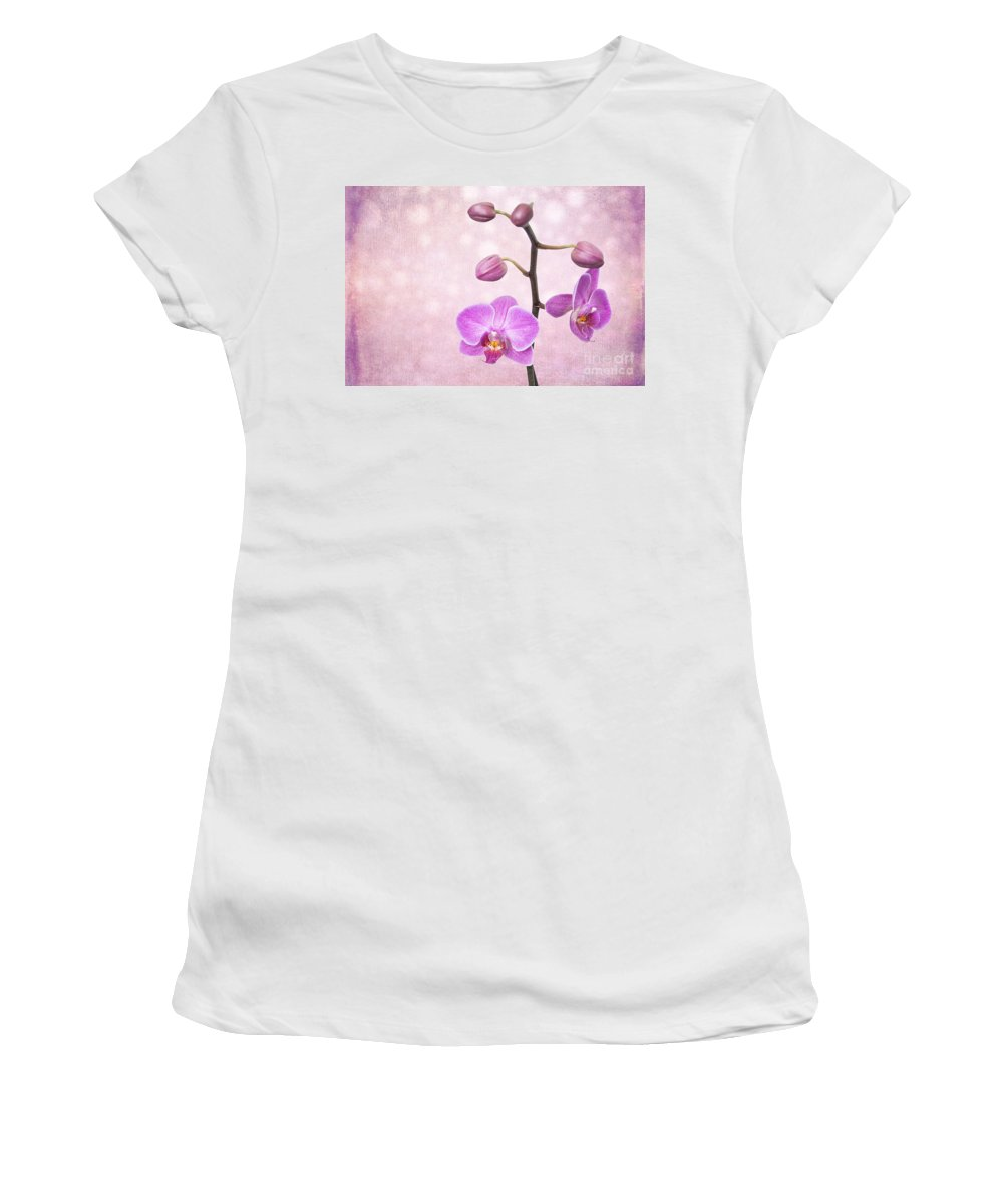 Asia Women's T-Shirt featuring the photograph The Orchid Tree - Texture by Hannes Cmarits