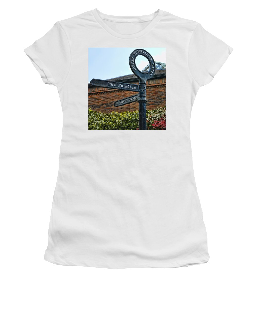 England Women's T-Shirt (Athletic Fit) featuring the photograph The Pantiles by Jon Berghoff