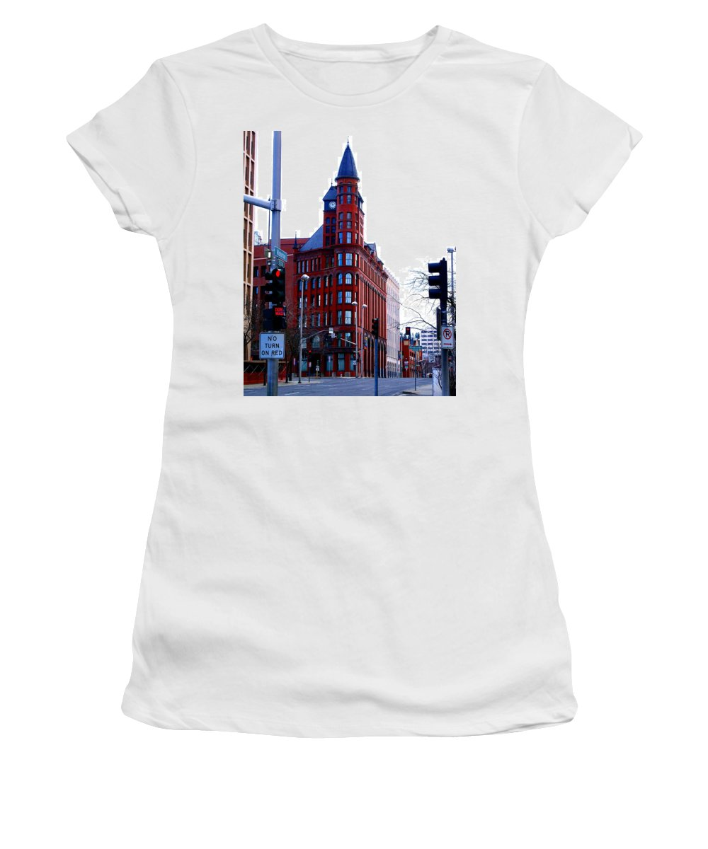 Spokane Women's T-Shirt featuring the photograph The Review Building by Ben Upham III