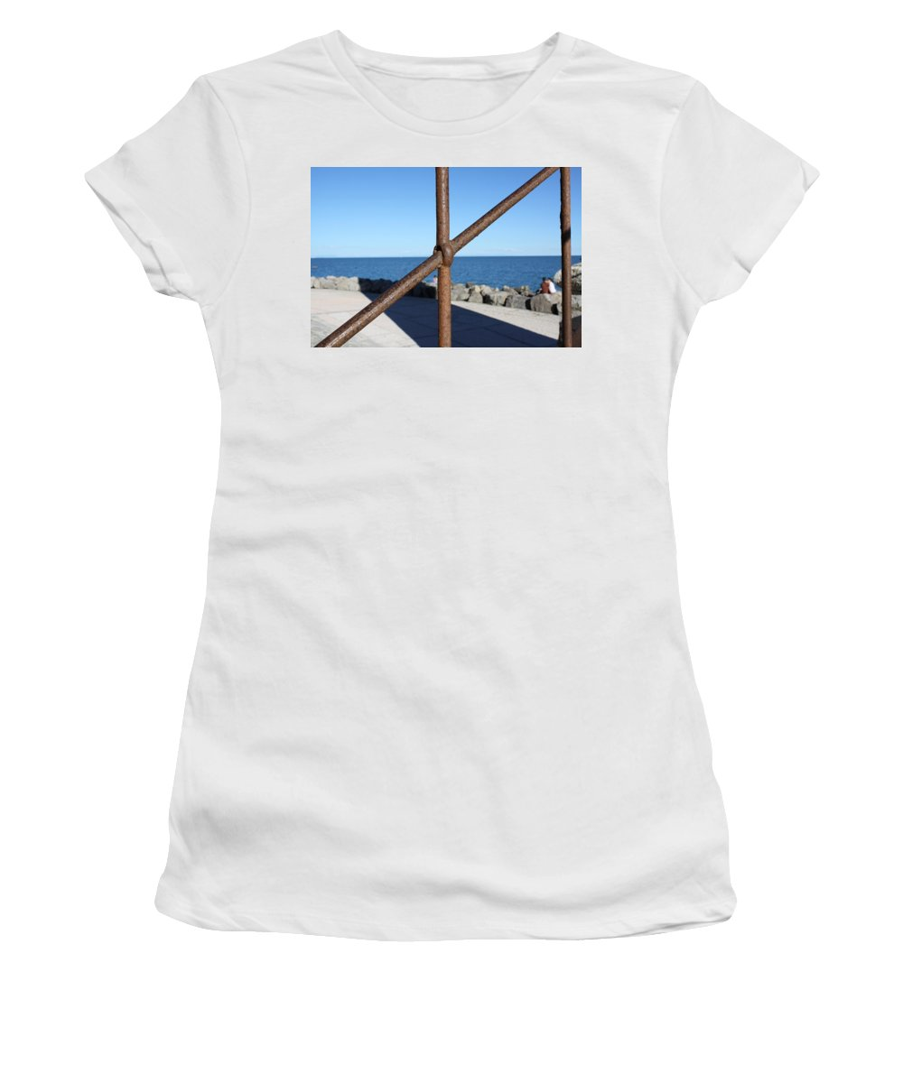 Sea Women's T-Shirt featuring the photograph The Rust And The Sea by Donato Iannuzzi