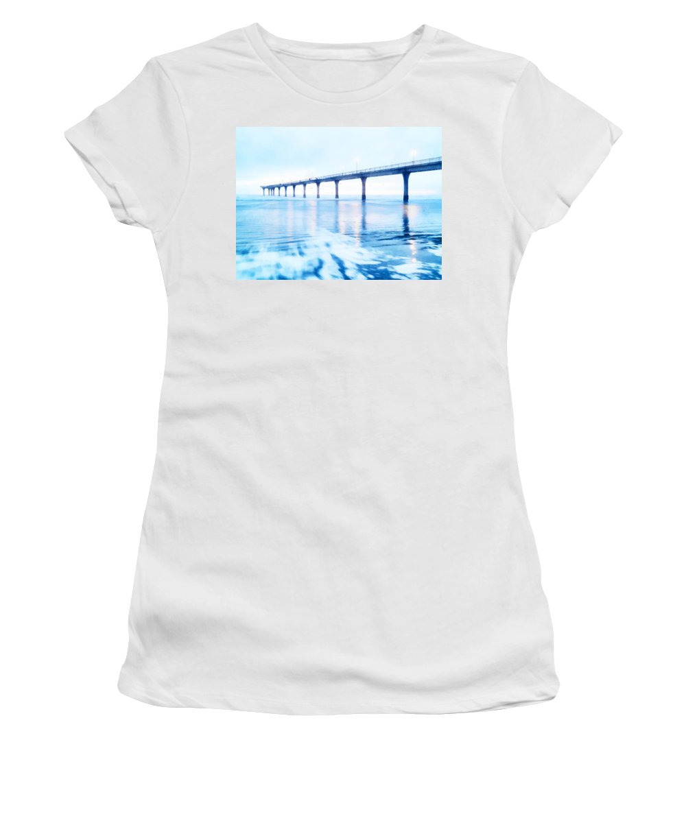 Sea Draws Me Women's T-Shirt featuring the photograph The Sea Draws Me In by Steve Taylor