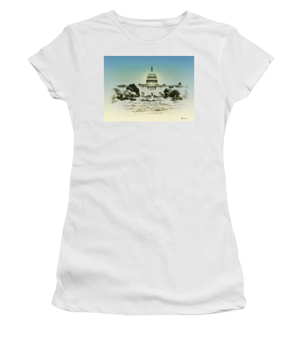 The United States Capital Building Women's T-Shirt featuring the photograph The United States Capital Building by Bill Cannon