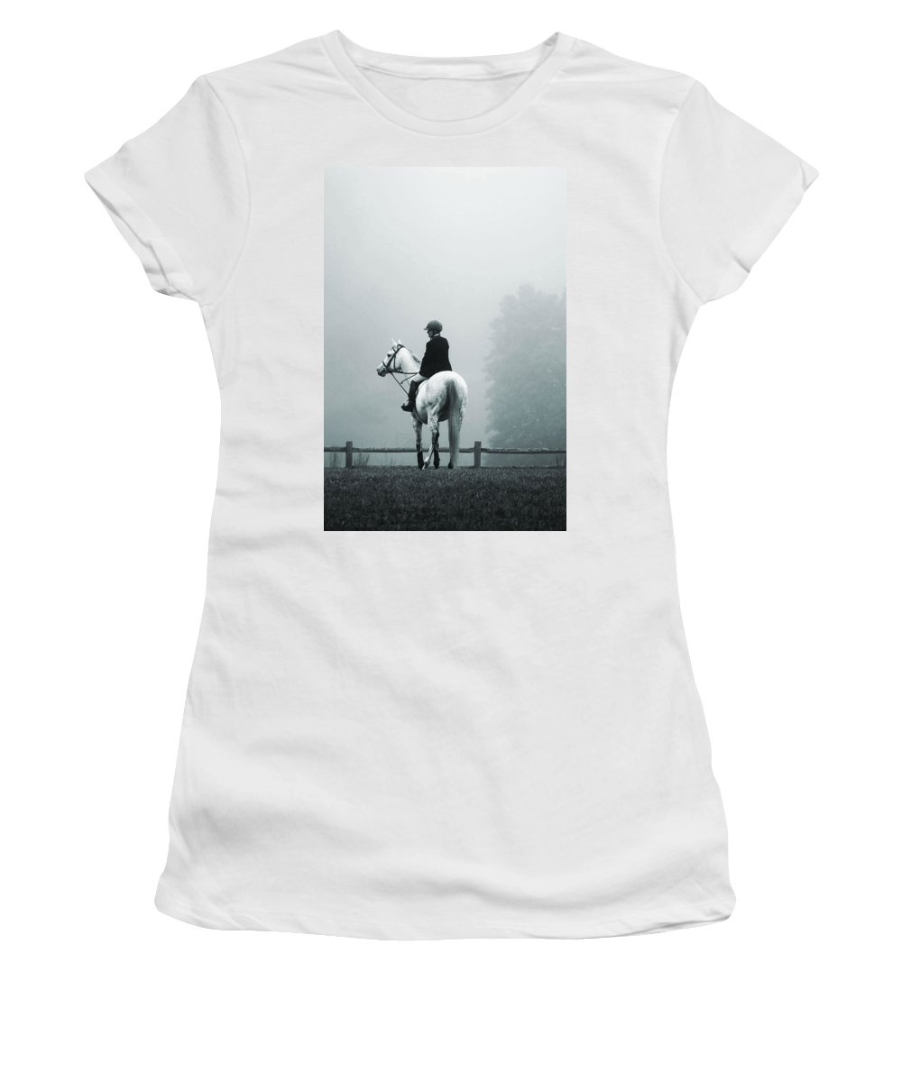 Horse Women's T-Shirt (Athletic Fit) featuring the photograph The Watchman by Hannah Breidenbach