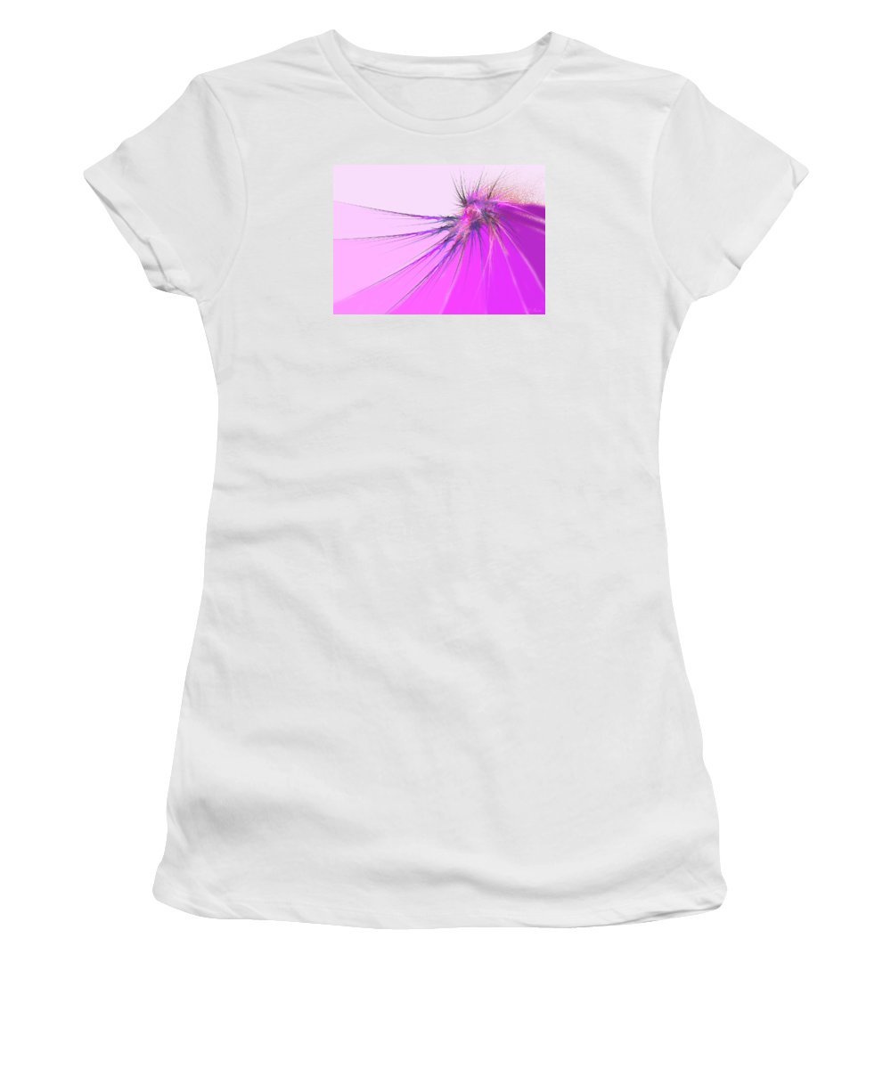 Digital Women's T-Shirt (Athletic Fit) featuring the digital art Thistle by Michael Durst