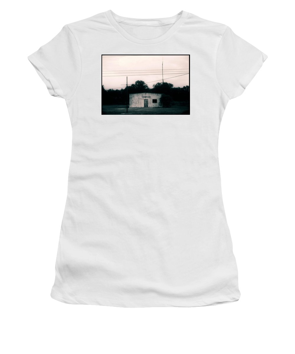 Louisiana Women's T-Shirt (Athletic Fit) featuring the photograph Thompson- La Highway 80 by Doug Duffey