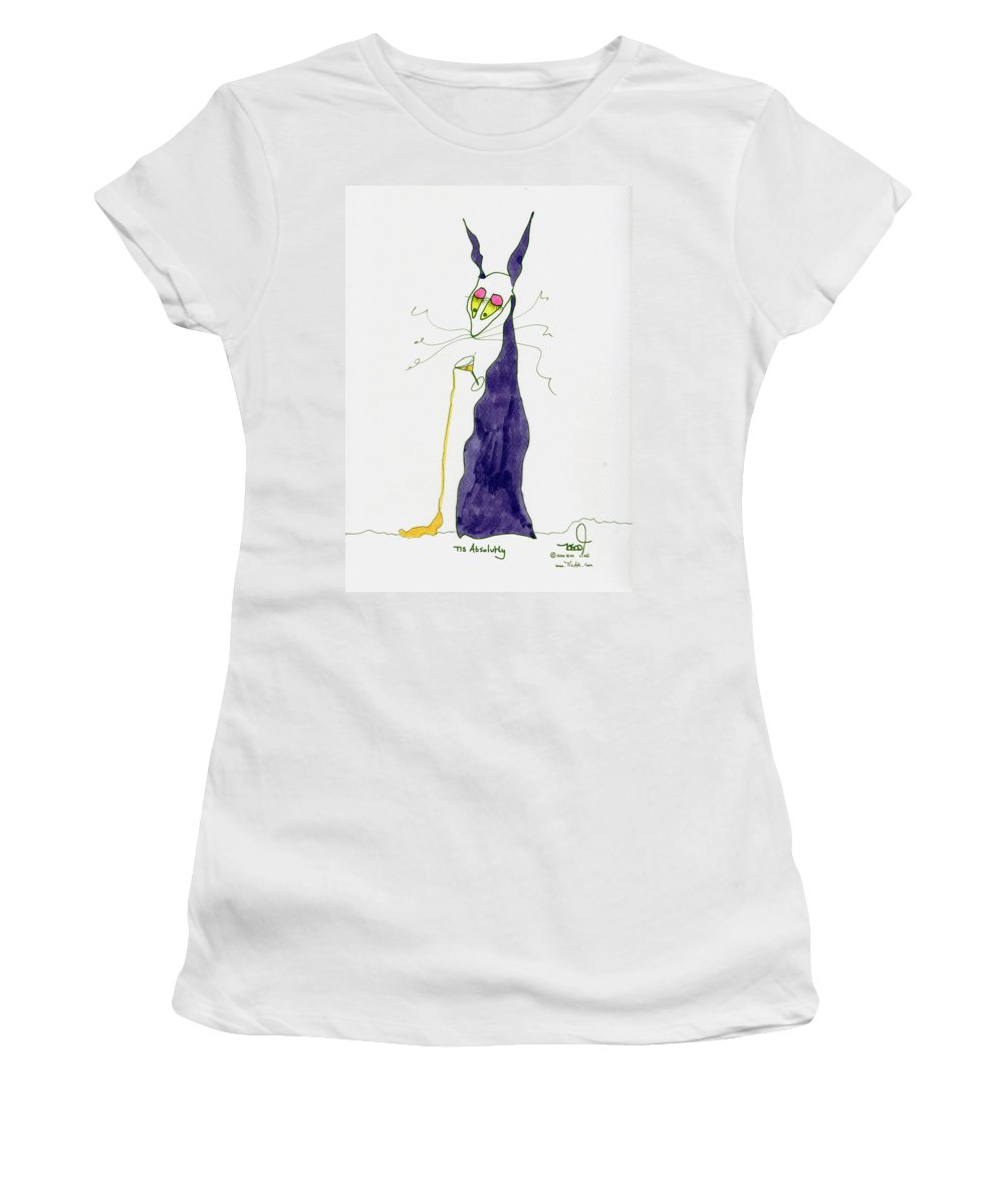 Purple Women's T-Shirt featuring the painting Tis Absolutly by Tis Art