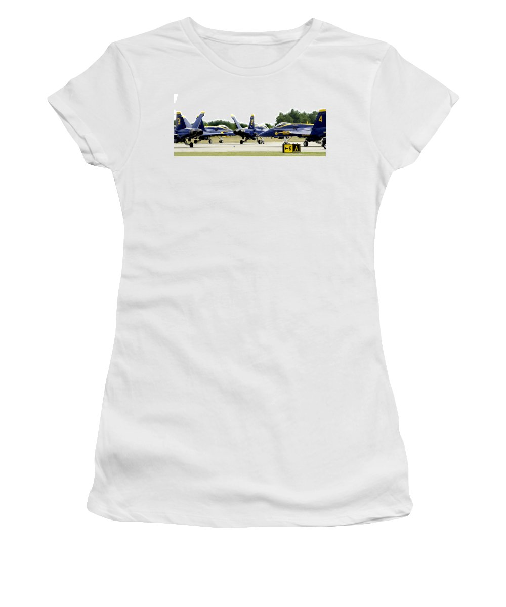 Airshow Women's T-Shirt featuring the photograph Traffic Jam by Greg Fortier
