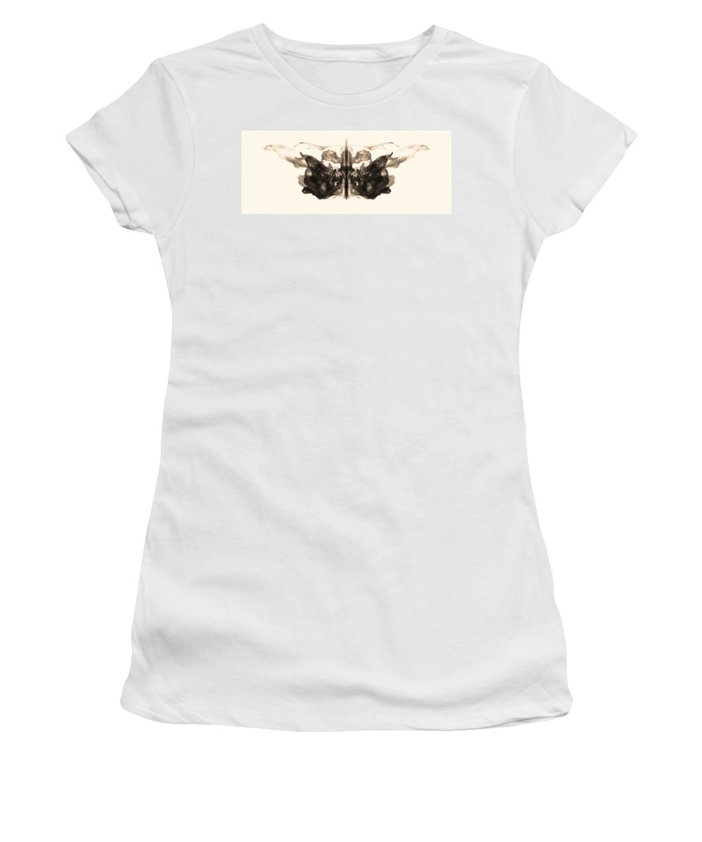 Abstract Women's T-Shirt featuring the photograph Underwater Butterfly by Sumit Mehndiratta