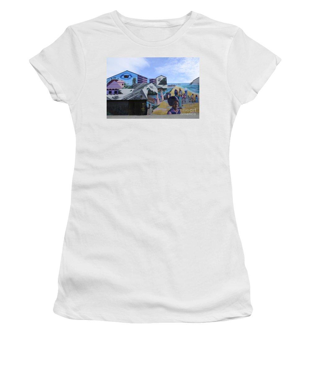 Wall Art Women's T-Shirt featuring the photograph Venice Beach Wall Art 2 by Bob Christopher