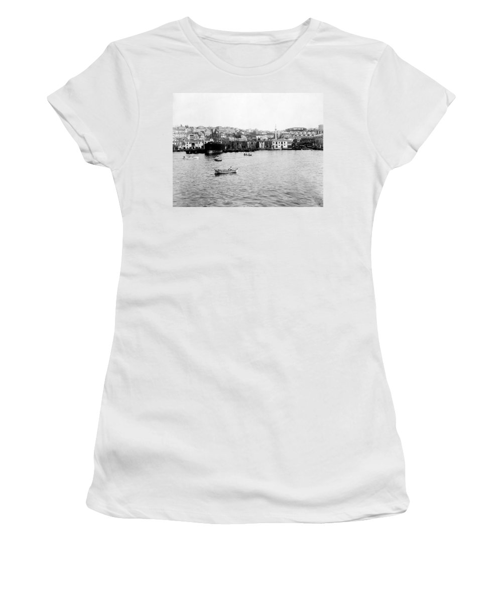 Istanbul Women's T-Shirt featuring the photograph View Of Tophane - Istanbul - From The Sea - Turkey by International Images
