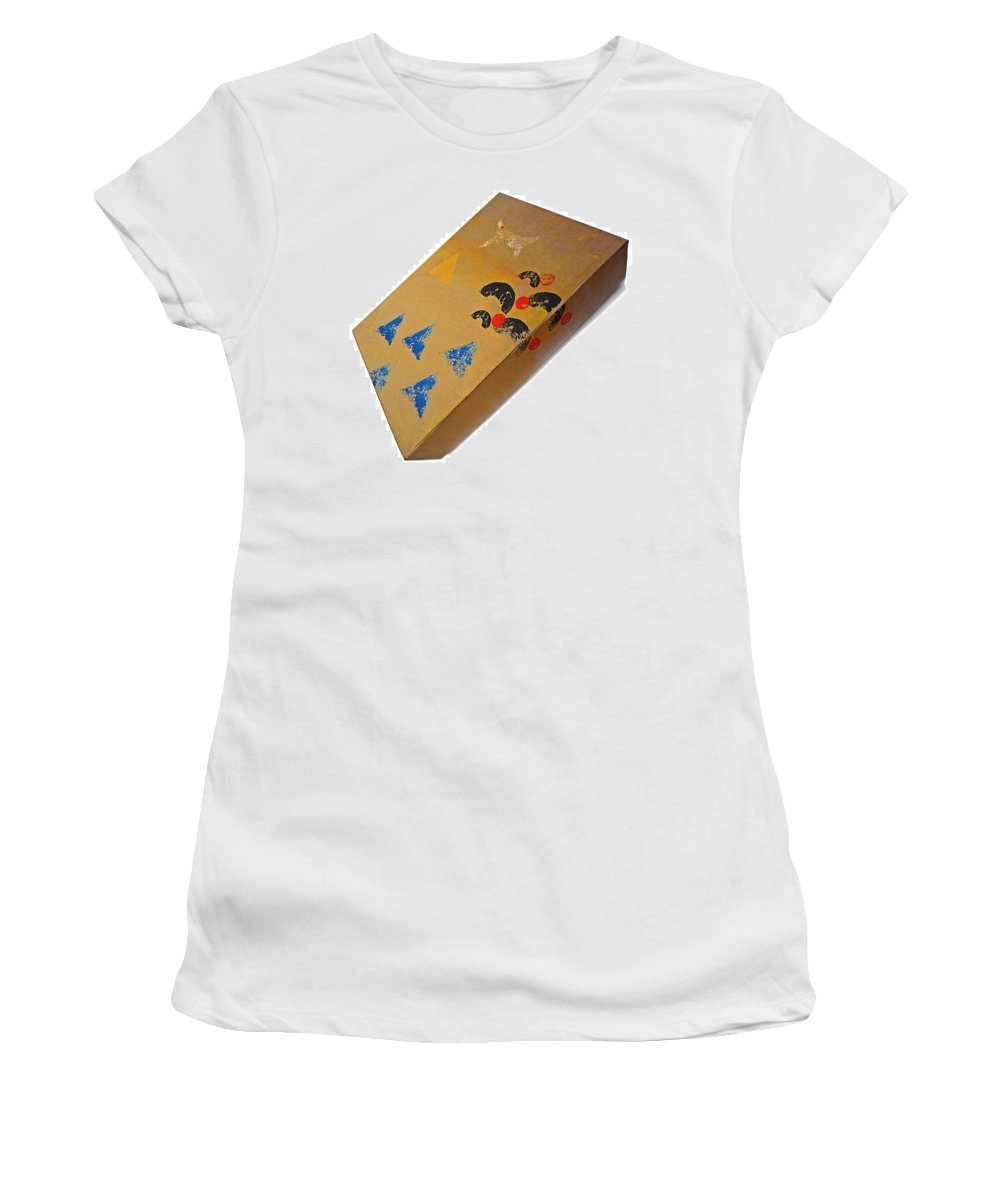 Native Women's T-Shirt (Athletic Fit) featuring the painting Village Box by Charles Stuart